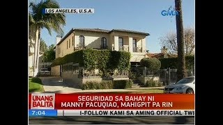 Security in Manny Pacquiao's home remains tight after burglary