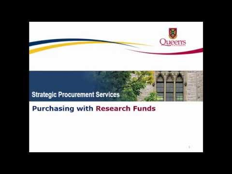 Purchasing Items With Research Funds