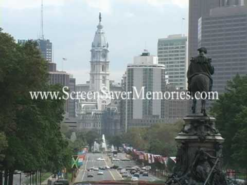 Downtown Philadelphia Pennsylvannia Video Screensaver