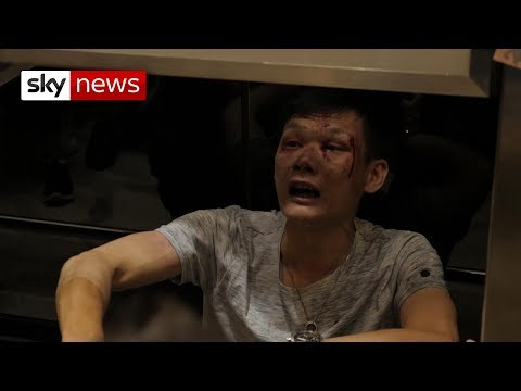 Hong Kong protesters are 'baying for blood' as mobs attack civilians