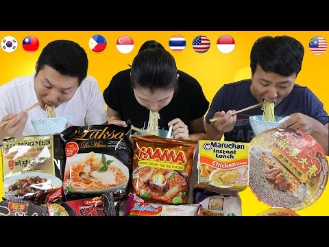 Thumbnail: Tasting RAMEN INSTANT NOODLES From Around the World!