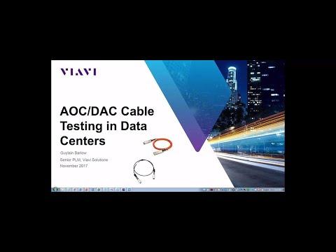 VIAVI Solutions Webinar: Data Center Cable Infrastructure
