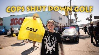COPS SHUT DOWN TYLER THE CREATOR GOLF x CONVERSE