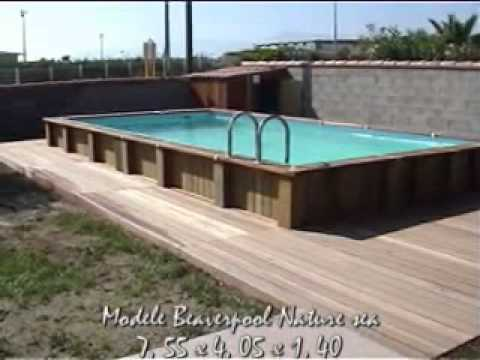 piscine bois rectangulaire 8 x 4 terrasse bois exotique youtube. Black Bedroom Furniture Sets. Home Design Ideas