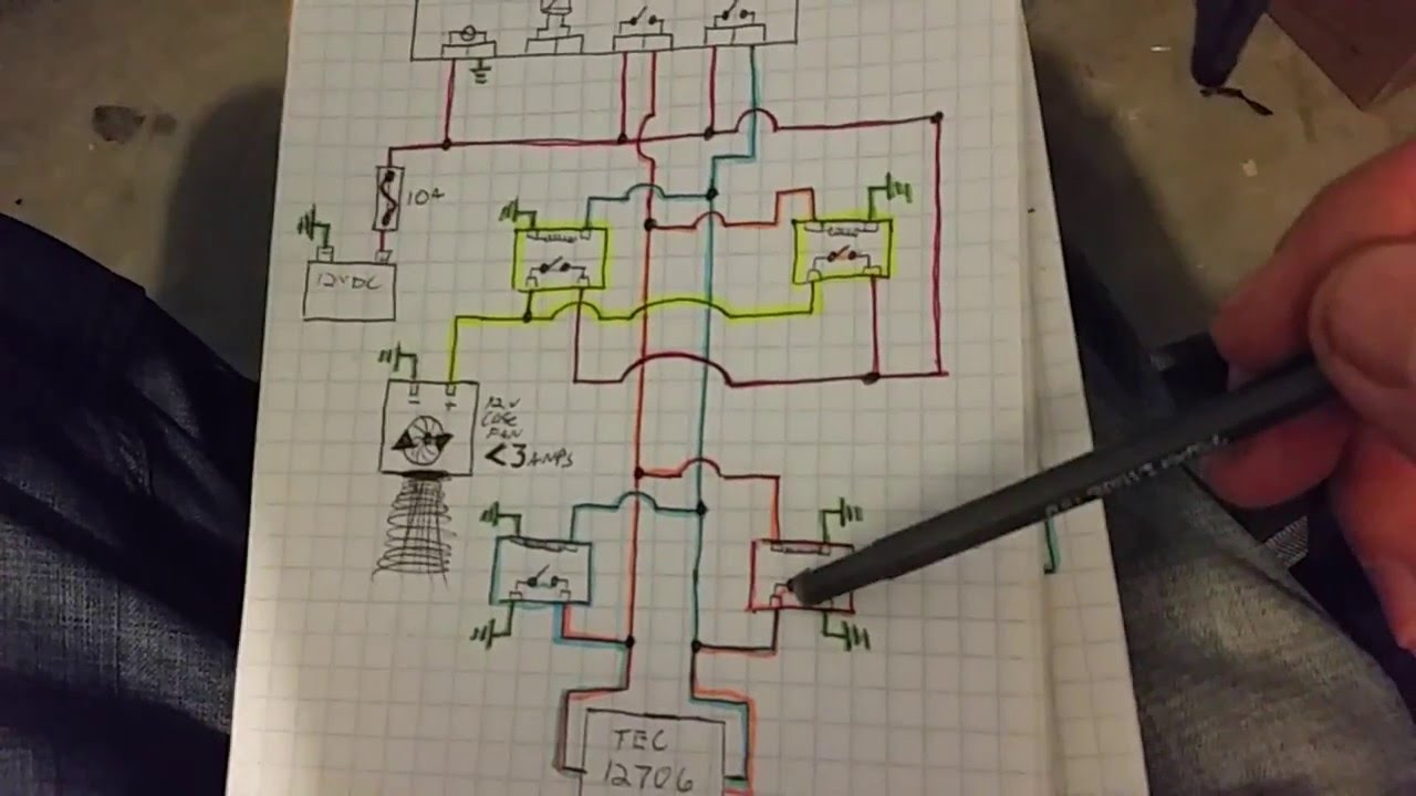 Peltier Ac Heater With 4 Pin Relay Schematic Youtube Circuit Diagram
