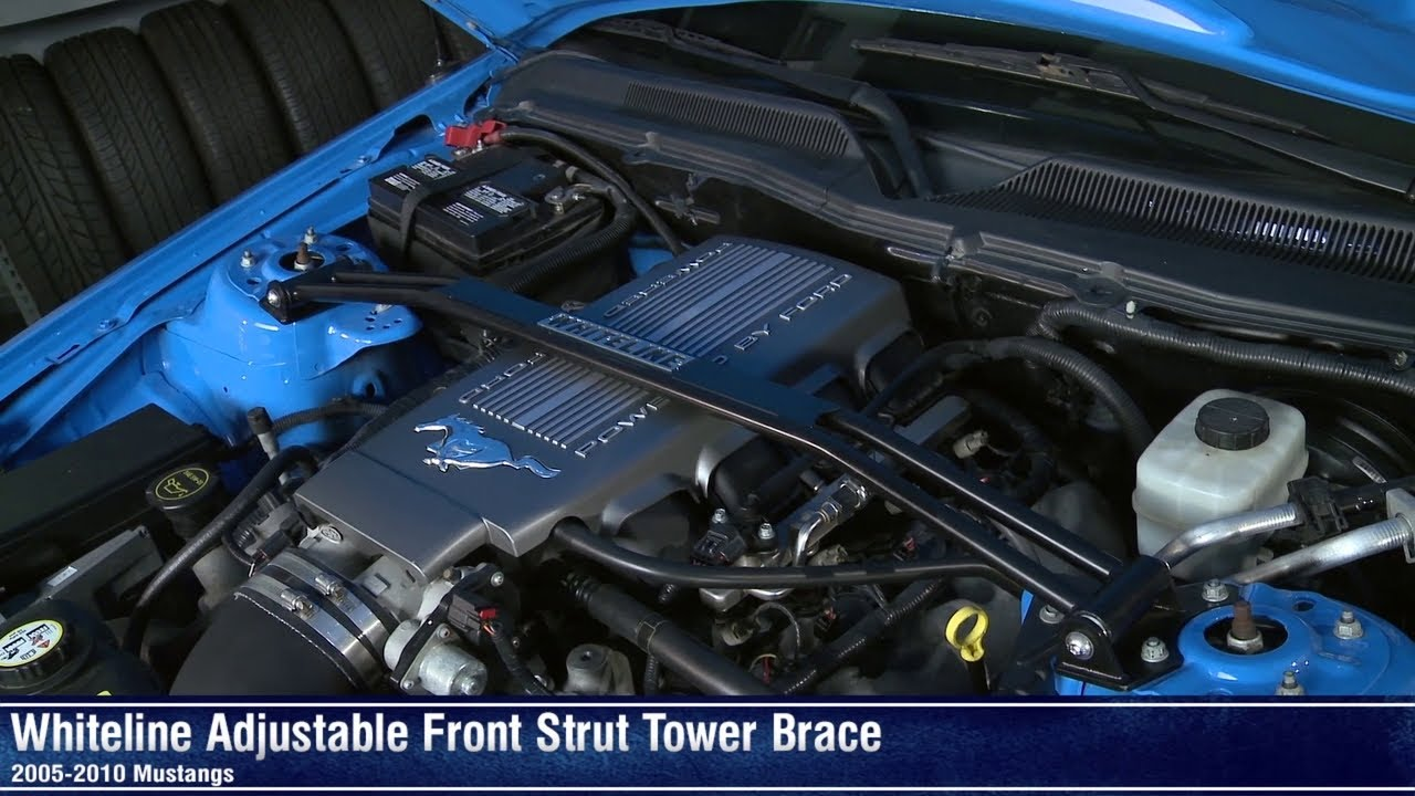 Mustang Whiteline Adjustable Front Strut Tower Brace  05