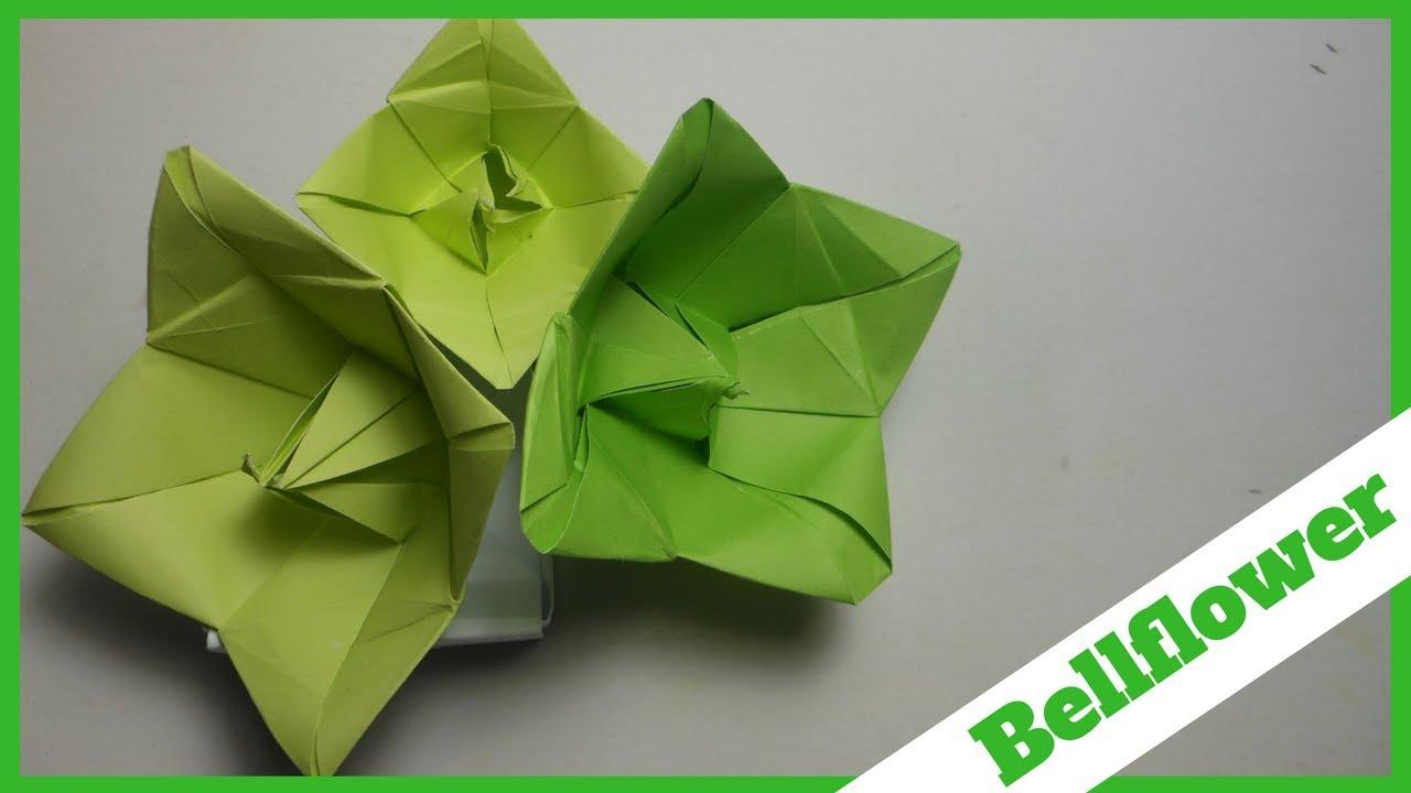 How to make paper origami bellflower campanula diy paper how to make paper origami bellflower campanula diy paper bellflowers easy origami flower mightylinksfo