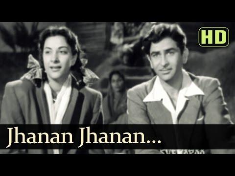 Jhanan Jhanan Ghungharwa Baje  Raj Kapoor  Nargis  Aah  Lata Mangeshkar  Evergreen Hindi Songs