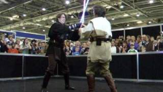 Obiwan vs Anakin/Darth Vader mustafar fight