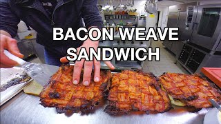 how to make a giant bacon weave sandwich get bacon in every bite