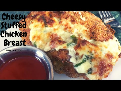 ninja-foodi-stuffed-chicken-breasts-cheesy-goodness!