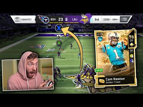 I was down by 17 without ball... (Golden Ticket Cam Newton) Madden 20 Ultimate Team Gameplay