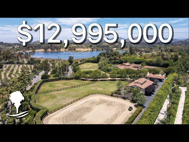 Tour a SPRAWLING $12,995,000 Equestrian Estate with Lake Views in Rancho Santa Fe, California