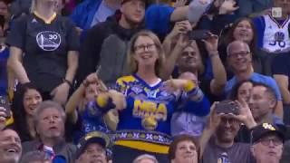 warriors fan crazy show on dance cam golden state warriors vs dallas mavericks 09 11 2016