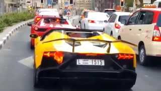 إحتراق سيارة لامبورجيني في دبي