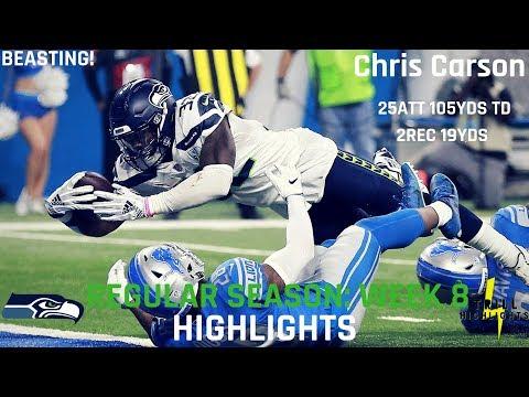 Chris Carson Week 8 Highlights | Beasting 10.28.2018
