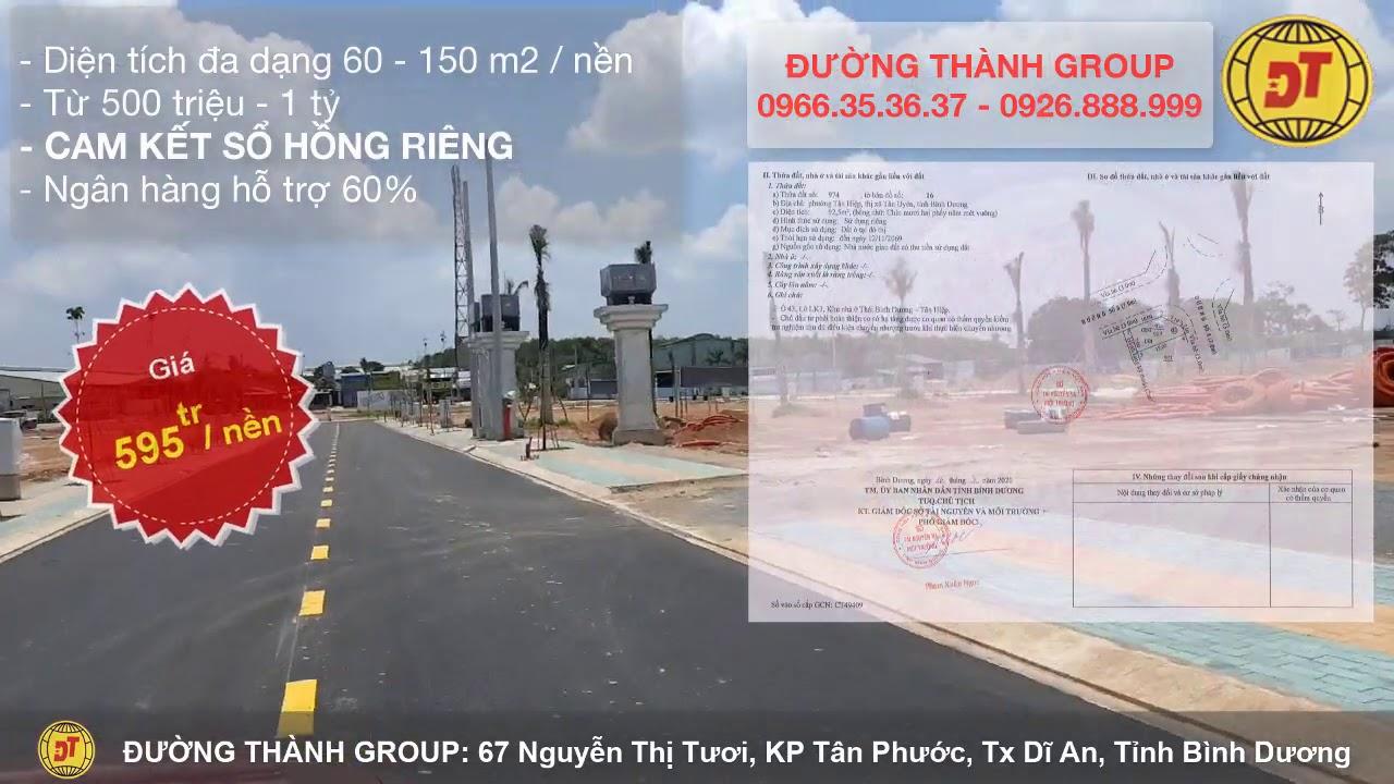 Dự án đất nền Tân Hiệp, SỔ HỒNG RIÊNG TỪNG NỀN,  Đường Thành Group:  0966 35 36 37 – 0926.888.999