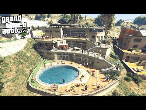 SNEAKING INTO A BILLIONAIRE HOUSE PARTY !!! (GTA 5 REAL LIFE PC MOD) |