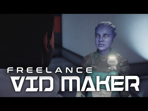 Mass Effect Andromeda: Ryder flirting with a Freelance vid maker