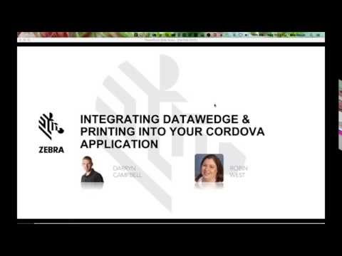 Zebra DEV { TALK } Want to Integrate DataWedge or Printing into Your Cordova Application?
