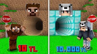 1 TL GEÇİT VS 10.000 TL GEÇİT! 😱 - Minecraft