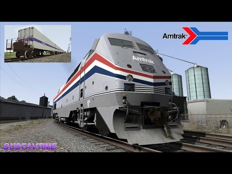Thumbnail: Amtrak California Zephyr train - RoadRailer