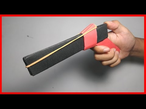 Mainan Anti Stres ! Cara Membuat Pistol Mainan Peluru Karet Dengan 2 Lembar Kertas