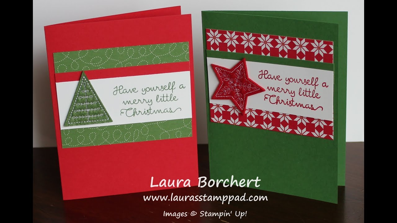 Quick Christmas Card Using The Stampin Up Felt Embellishments