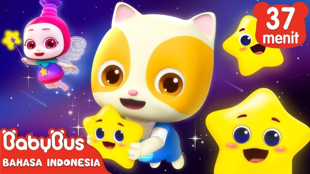 Bayi Kucing dan Bintang Kecil Berkelip | Lagu Anak Anak | Babybus Bahasa Indonesia Terbaru 2021