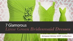 7 Glamorous Lime Green Bridesmaid Dresses Amazon Winter 2017  Collection