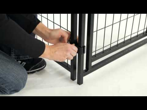 Welded Wire Mesh Dog Kennel Assembly