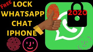 How to Lock WhatsApp On iPhone With Touch ID: Enable Fingerprint Whatsapp 2019 Turn Screen Lock On