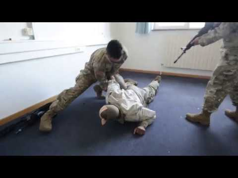 Army Military Police Conduct Room Clearing
