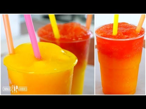 Ombre Fruit Slushies Recipe - How To Make Slushies ( DIY Homemade Slushies )