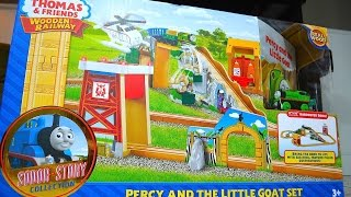 Thomas And Friends Percy And The Little Goat Set - Wooden Railway Toy Train Review