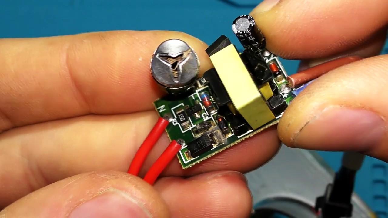 Ремонт LED драйверов для светодиодных светильников (замена конденсаторов)