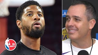 Frank Vogel wants Paul George to lose all games vs. the Lakers | NBA on ESPN