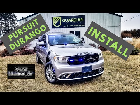 2018 Police Dodge Durango Ssv With Blueprint And M