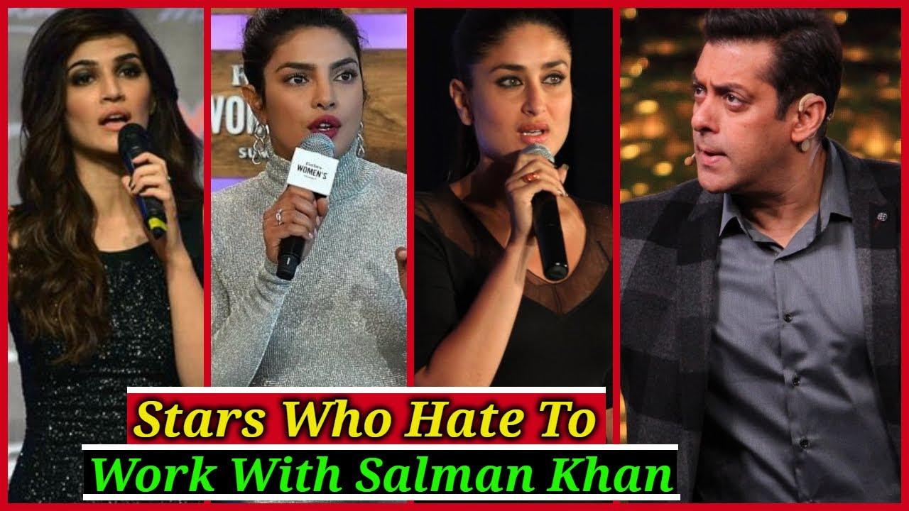 Bollywood Actresses Who Hate To Work With Salman Khan | Shraddha Kapoor, Priyanka Chopra, Alia Bhatt