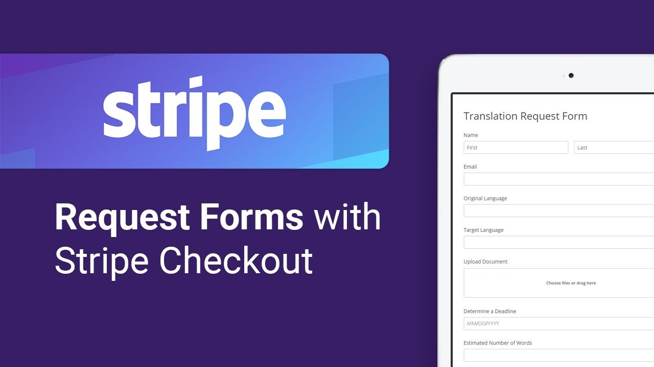 Create a Translation Request Form with Stripe Checkout