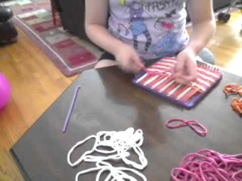 How to make a pot holder with the weaving loom...