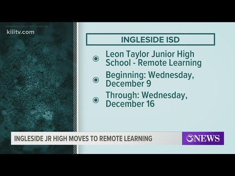 Leon Taylor Junior High School in Ingleside transitioning to remote learning