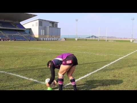 Billy Slater kicks goal from the sideline