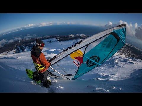 Windsurfing Down a Snowy Mountain w/ Levi Siver | Stream Mountain