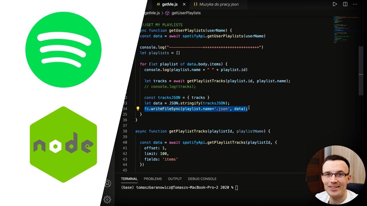 Spotify API in JavaScript Tutorial - Playlist Export
