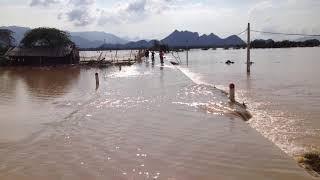 Vỡ đê bao ở Thủ đô, hơn 200 nóc nhà chìm trong biển nước