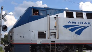 Awesome Amtrak Engineer on the 98 Silver Meteor 8/17/14