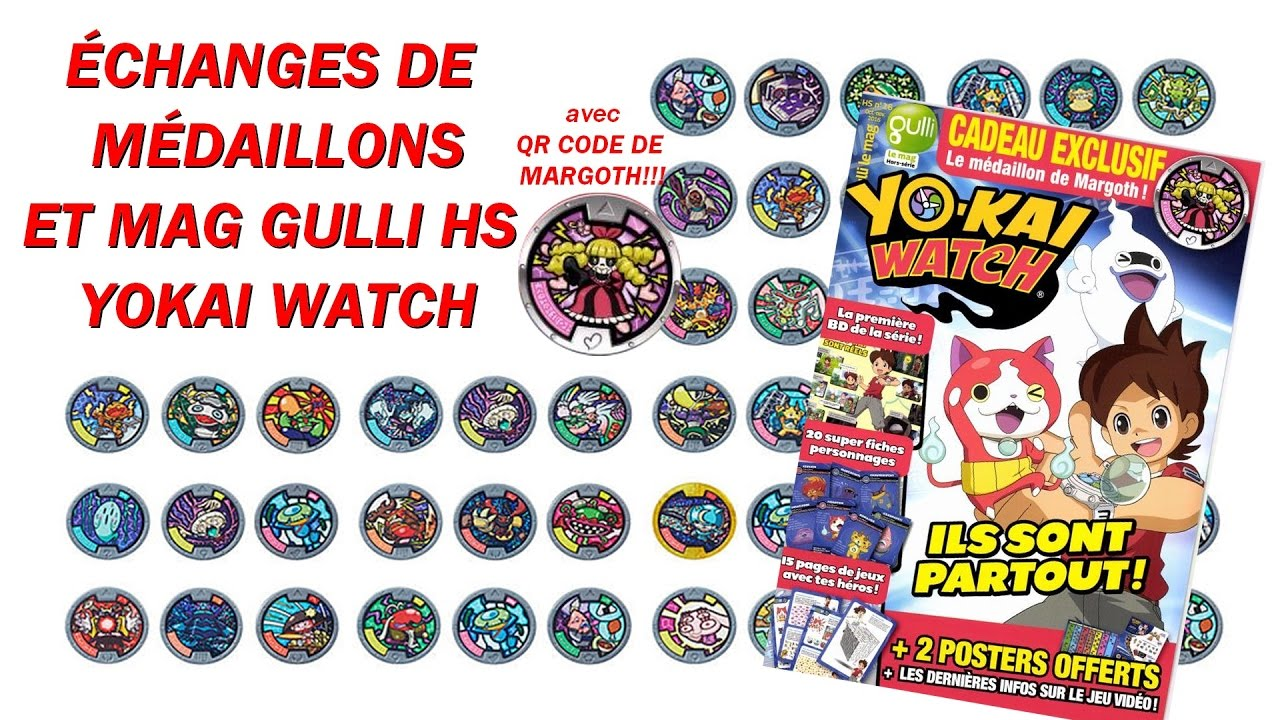 Changes de m daillons hs gulli mag sp cial yokai watch for Porte medaillon yokai watch
