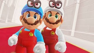 Fire Mario and Ice Mario in Super Mario Odyssey - Final Boss & Ending