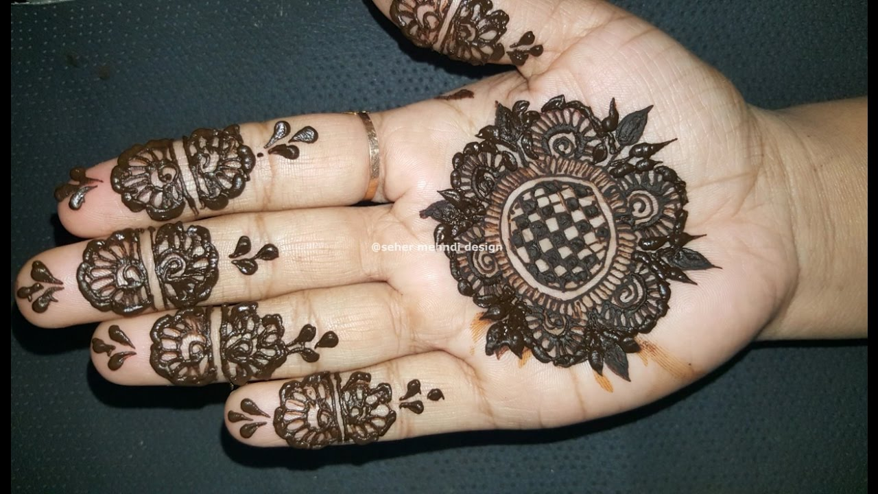 Diy Easy And Beautiful Arabic Henna Mehndi Design Tutorial For Front